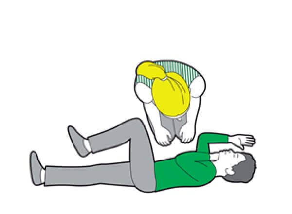 Child CPR - if the child becomes responsive and starts to breathe normally, put them in the recovery position