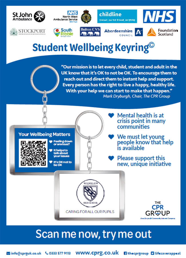 Student Wellbeing Keyring Launch